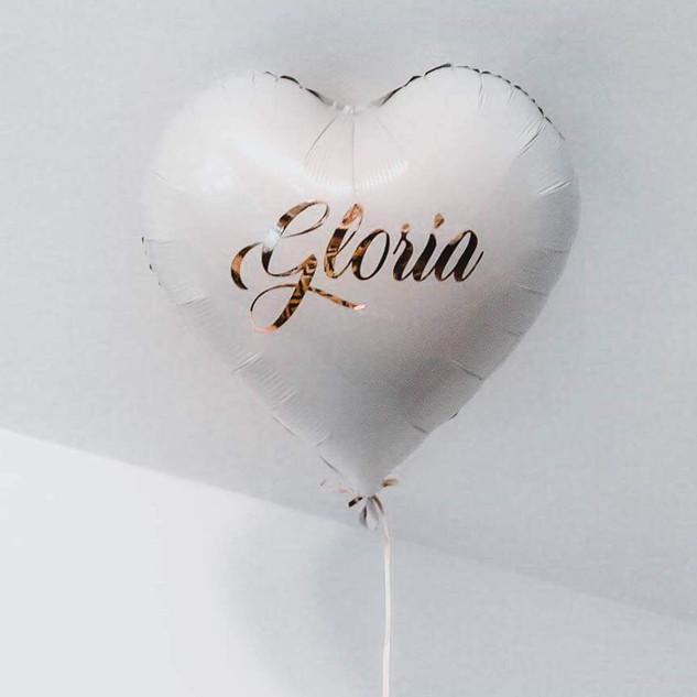 Balon Inscriptionat White