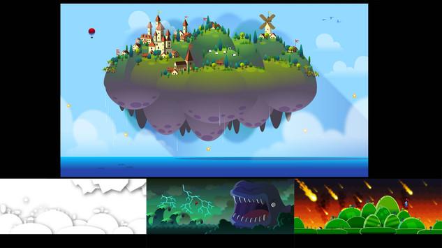 Balloon game concept art