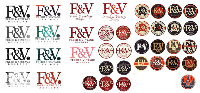Logo designs for a vintage stor