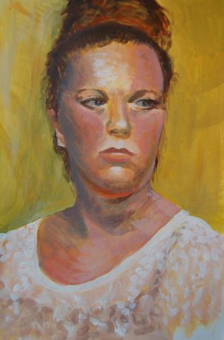 Acrylic paint portrait