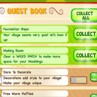Moshi Monsters Village UI