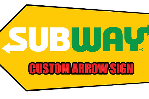 2ft x 4ft coroplast arrow signs