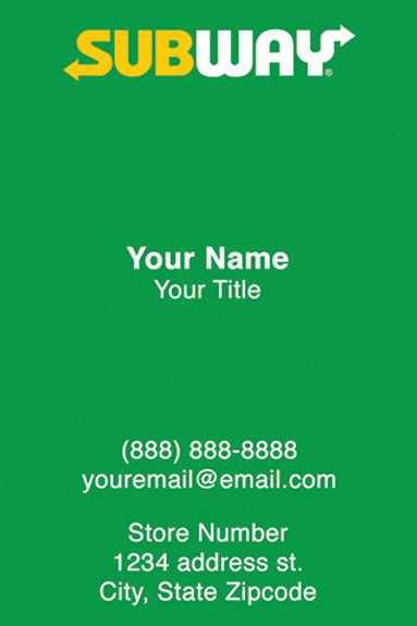 Business Cards - Front Sample 4