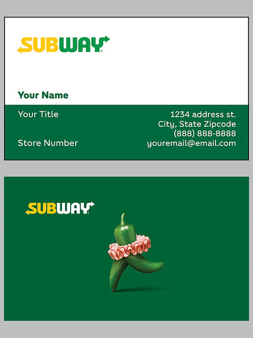 Subway Business Cards - Sample 4