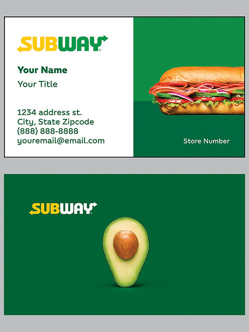 Subway Business Cards - Sample 7