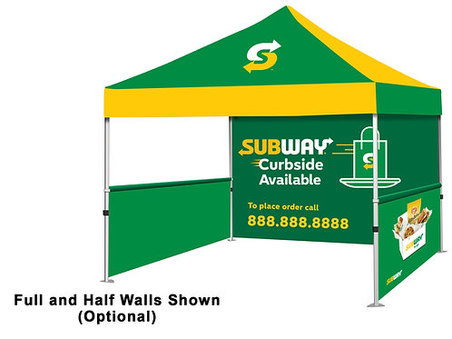 Event Tent (Full Color) + Full Back Wall + 2 Side Walls - 102