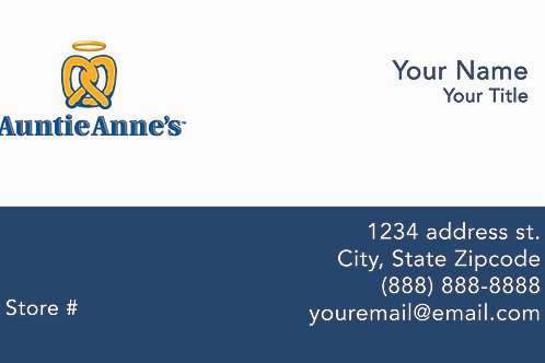 Auntie Anne's Business Cards - Sample 101