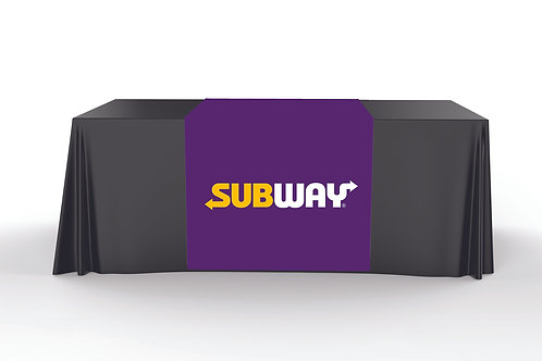 Purple Table Runner - Subway Logo