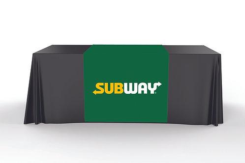 Green Table Runner - Subway Logo