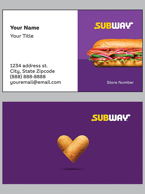 Subway Business Cards - Sample 10