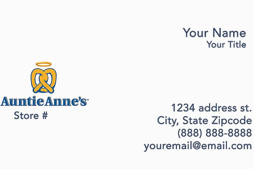 copy of Auntie Anne's Business Cards - Sample 102