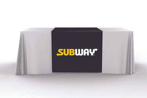 Black Table Runner - Subway Logo