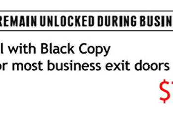 Business Signs Exit Door