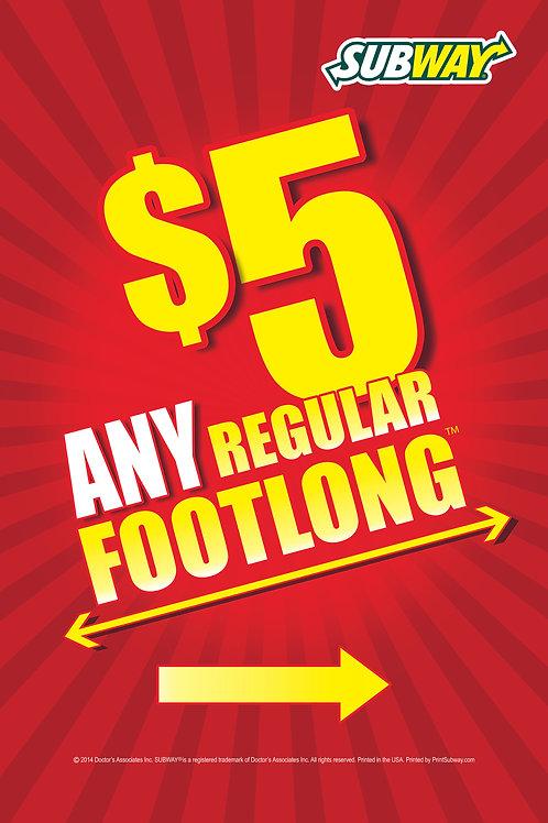 Subway-$5 Any Footlong-Red-PortableTube