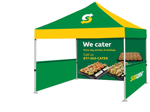 Event Tent (Full Color) + Full Back Wall + 2 Side Walls