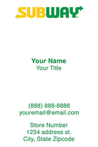 Business Cards - Front Sample 5