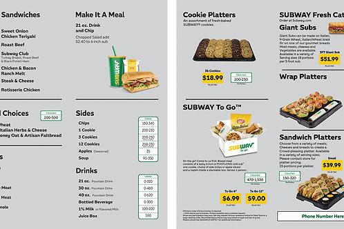 Subway Catering Menu + Wrap Sample 1