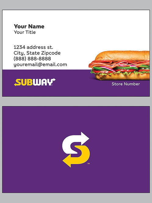 Subway Business Cards - Sample 19