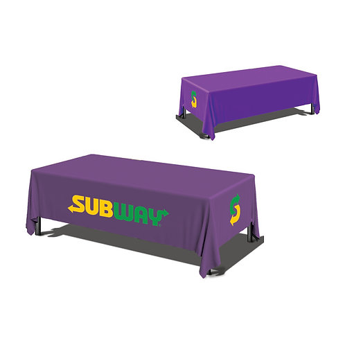 8ft Purple Table Cover 4 sided (Close Back)