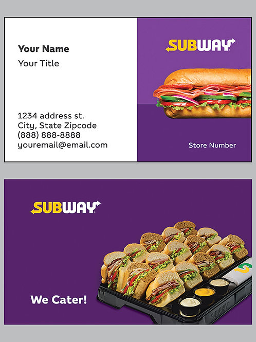 Subway Business Cards - Sample 11