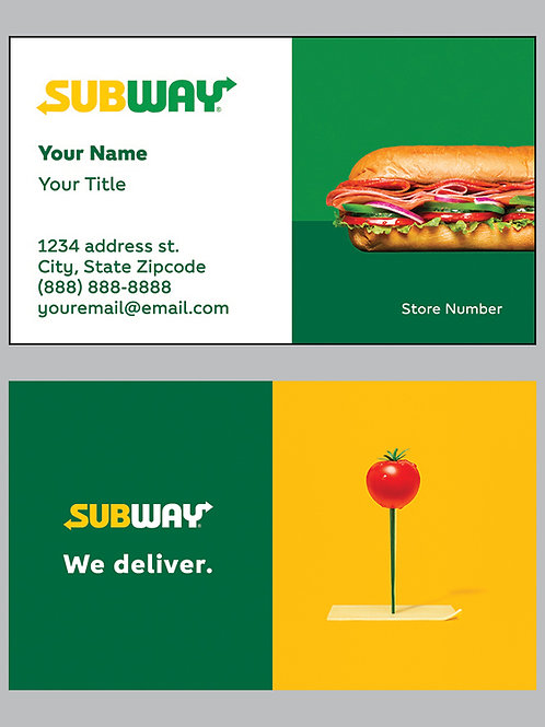 Subway Business Cards - Sample 8