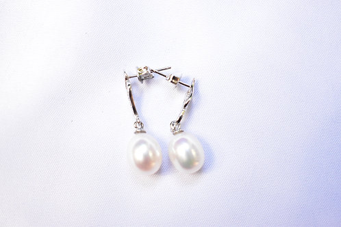 12 / 1 x Pure Pearl  Drop Earrings ST SILVER VALUE $349