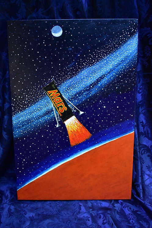 22 / Mars takeoff, Artist David Hill value $300