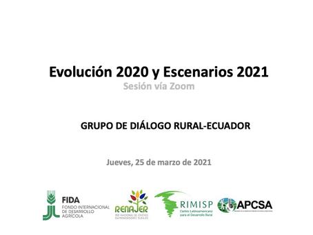 Escenarios 2021 para el agro