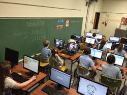 Full computer lab for instruction
