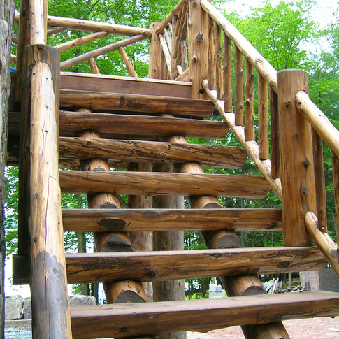 ext stair Adirondack Lodge Home wright a