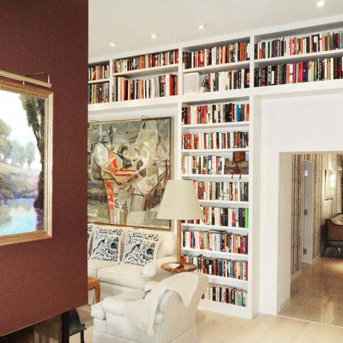 living room bookshelf 2 Wright Architect