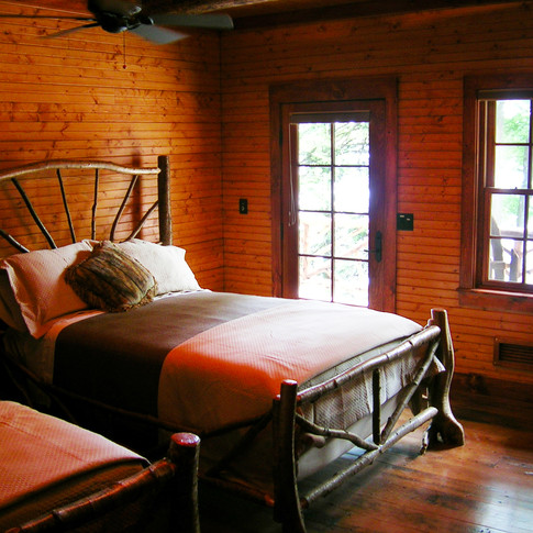 bed 1 Adirondack Lodge Home wright archi