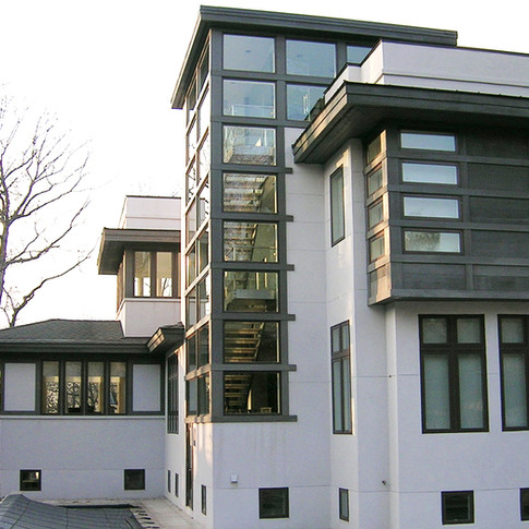 wright architects contemporary two story