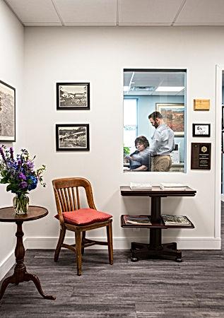 reception Wright Architects Kingston NY.