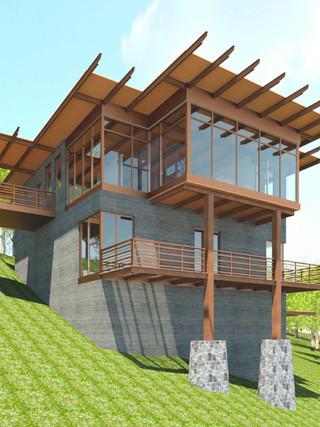Riverfront Passive Solar House