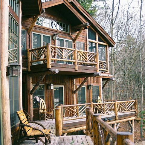 ext porch 2 Adirondack Lodge Home wright