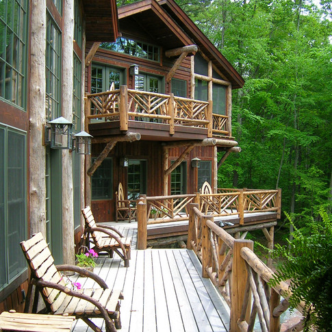 ext porch Adirondack Lodge Home wright a