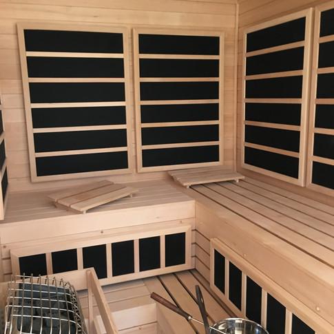 sauna WRIGHT ARCHITECTS WOODSTOCK RETREA