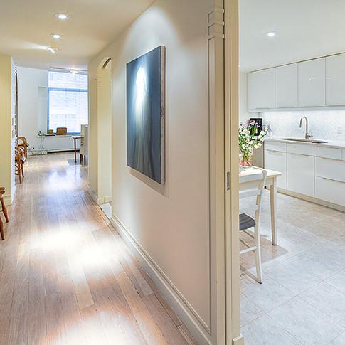 KitchenHallway Tribeca NYC Loft Wright A