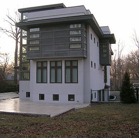 contemporary two story studi