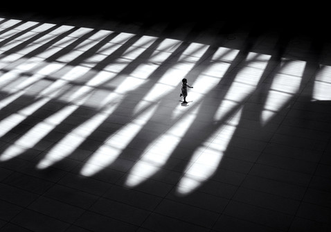 running through the shadows