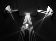prisms in black and white
