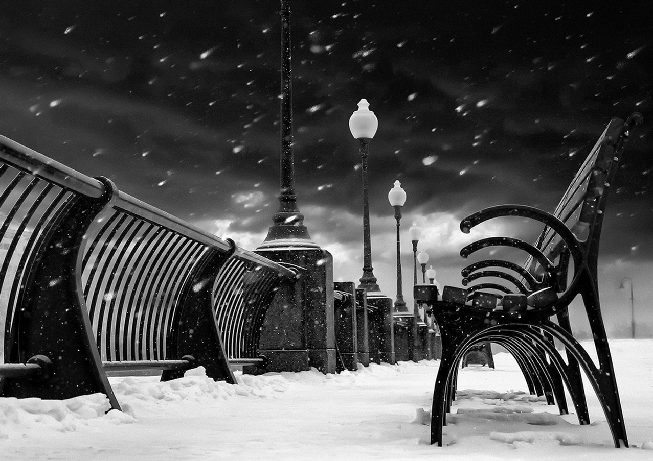 winter in Montreal's harbourfront