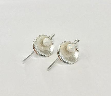 Mini Oyster Opal Earrings - £55