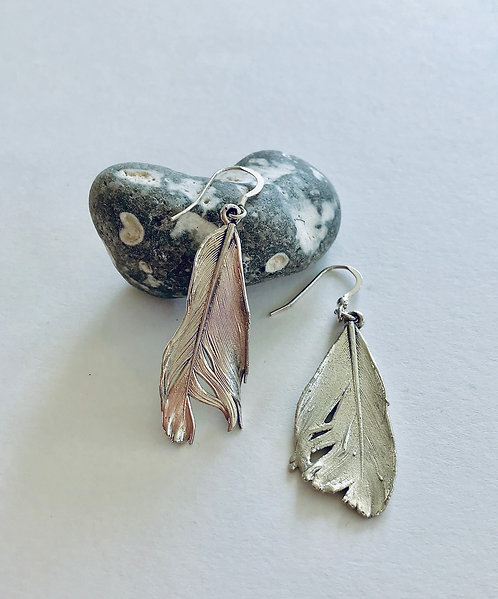 Dancing Feather Earrings - £60