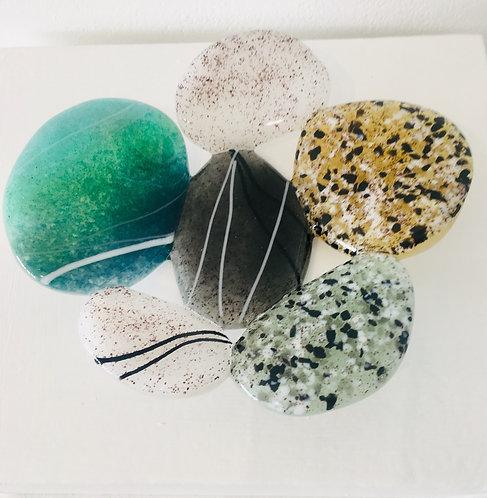 Small Glass Pebble Dish - £20