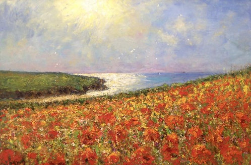 Porth Joke Towards Pentire Head, Summer's Afternoon- £8,000
