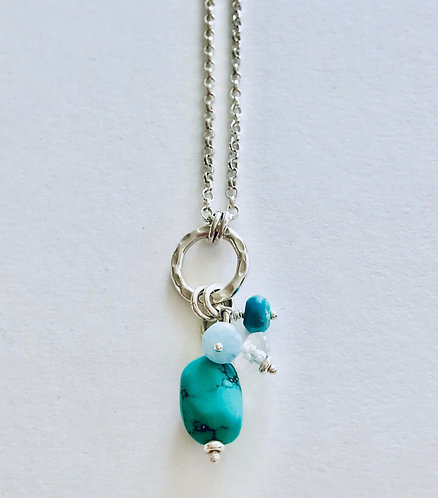 Chakra Necklace with Turquoise - £55