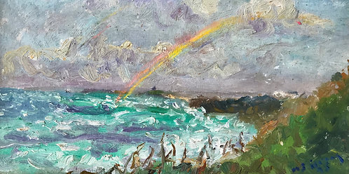 Rainbow Towards Godrevy - £1250