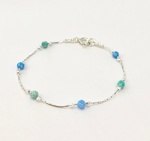 Blue and Green Opal Bracelet - £68